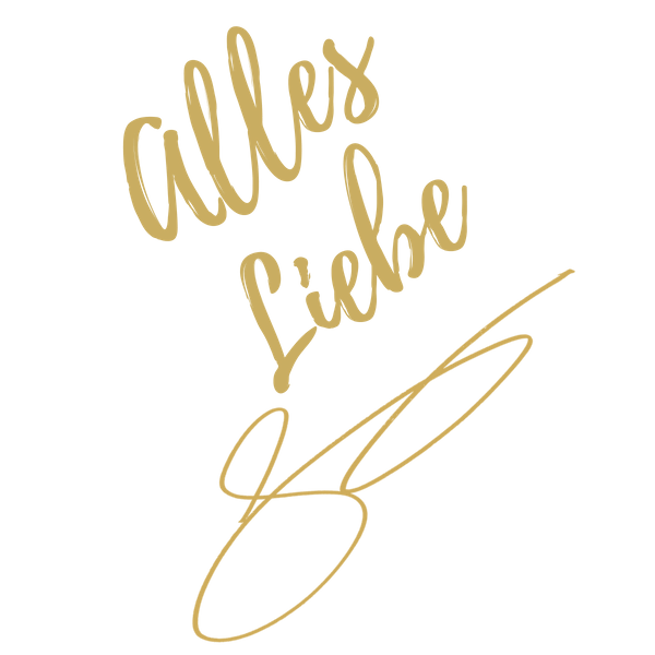 "Schriftzug ""Alles Liebe"" und Unterschrift Sabina Kocherhans"