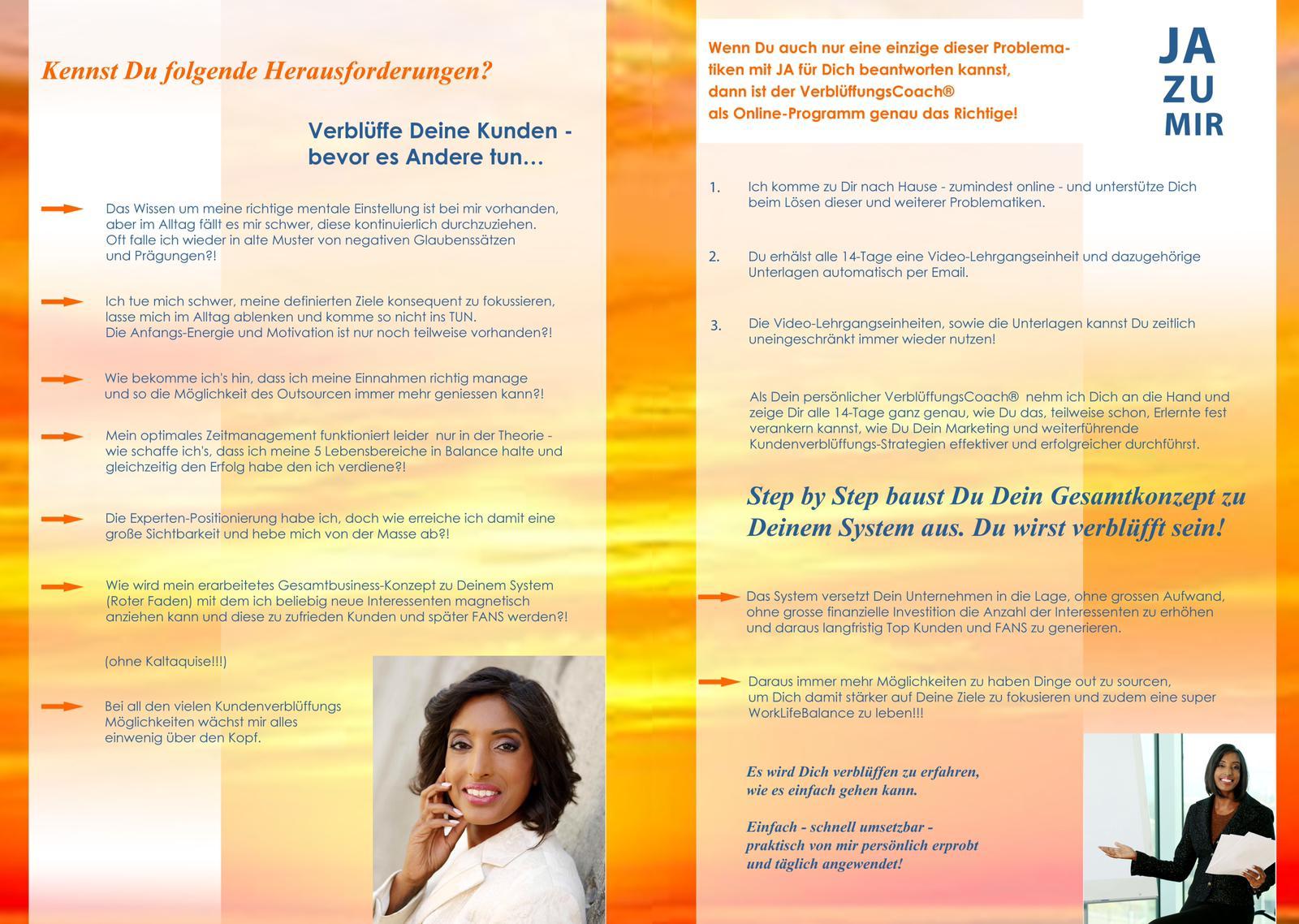 """Seite 2 des Flyer """"VerblüffungsCoach""""-Abonnement"""