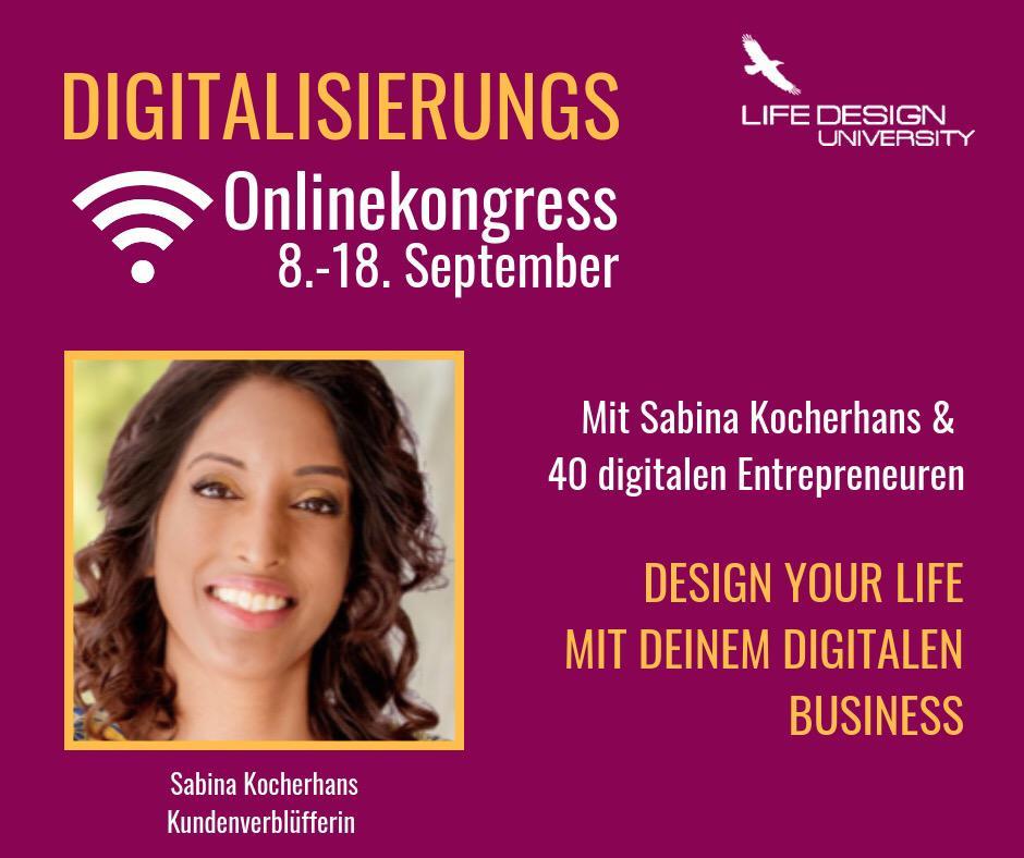 Werbegrafik für den Digitalisierungs-Online-Kongress von Jana Misar mit Foto von Sabina Kocherhans links unten